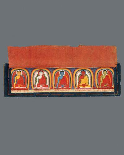 Five Buddha Manuscript Page