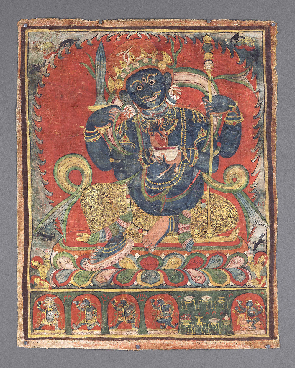 Seated Mahakala Chaturbhuja