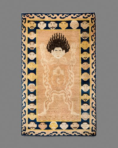 Tibetan Tantric Carpet of a Flayed Man