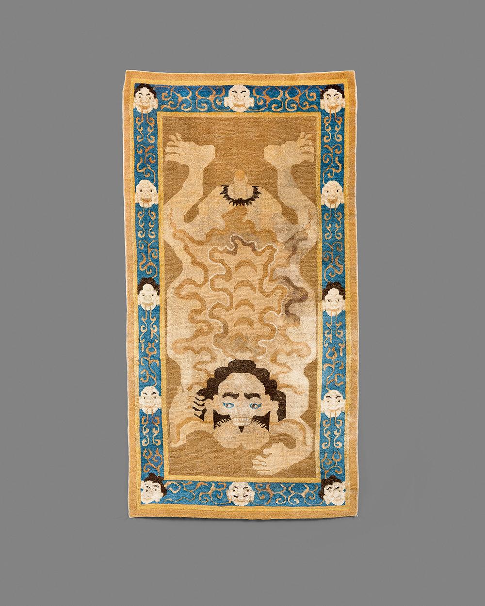 Tibetan Tantric Carpet of a Flayed Man