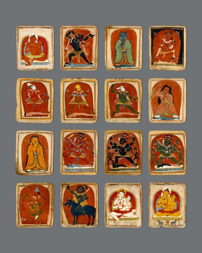 Tsakali ( Initiation Paintings) of Buddhist Mediation Deities: Each Page with Dedication  and Explanatory Text on the Back